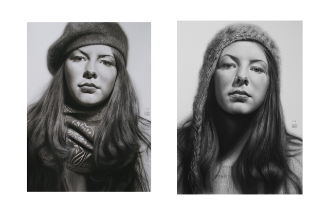 Kate Diptych Drawing