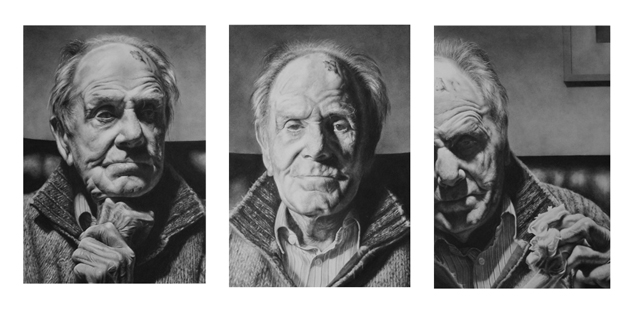 Ronald Triptych Drawing