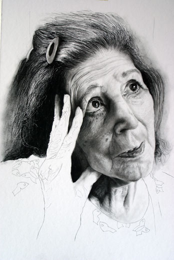 Unfinished Memory, a Charcoal Drawing