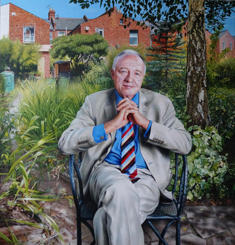 Ken Livingstone Acrylic on canvas