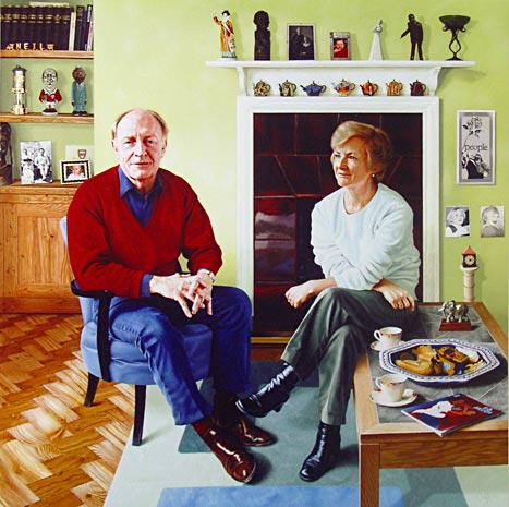 portrait of Niel and Glenys Kinnock by Andrew Tift